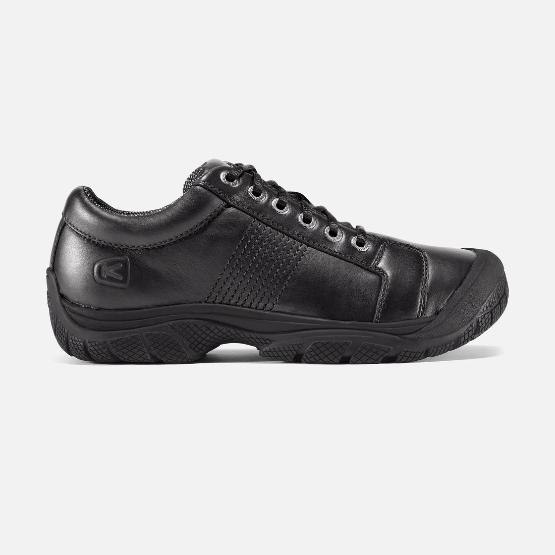 ptc oxford slip resistant work shoe black rudolph