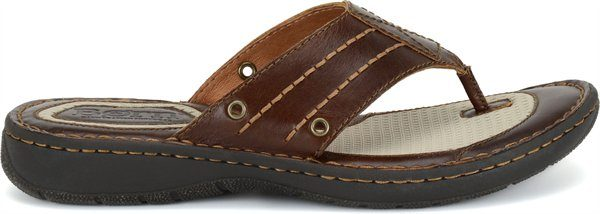 abedff1f08664 BORN Jonah Thong Sandal - Brown Leather - Rudolph Shoes.com