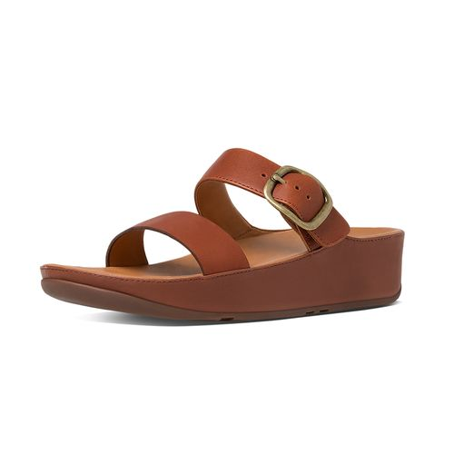 cc934fb1e Stack Slide-on Sandal - Dark Tan - Rudolph Shoes.com