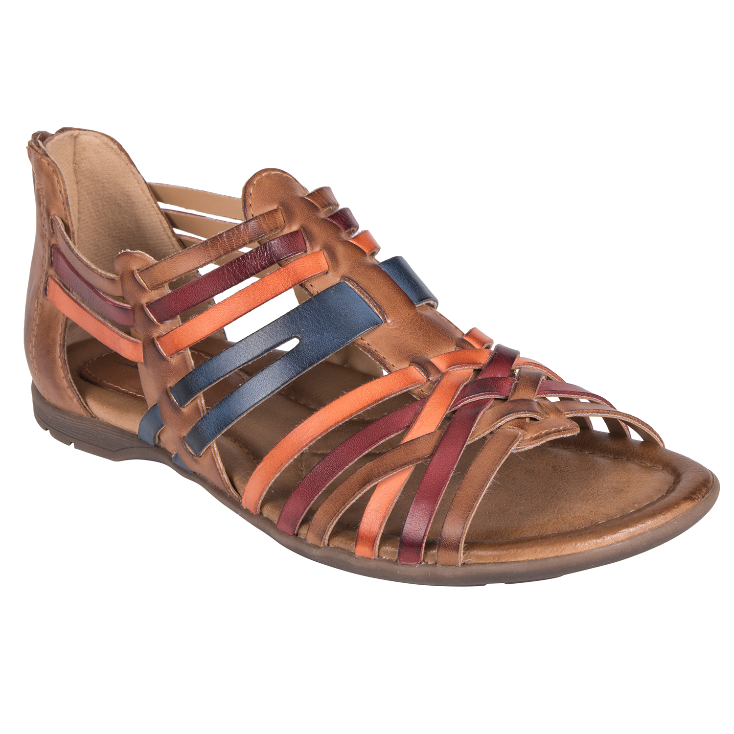 2fb9157acb04 EARTH Bonfire Leather Sandal - Brown Multi - Rudolph s Shoe Mart