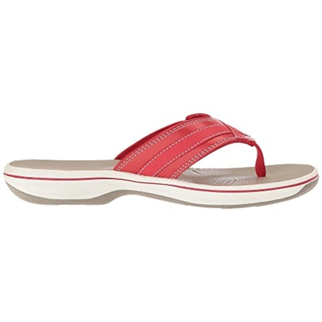 bad826b35 CLARKS Breeze Sea Thong Sandal - Red - Rudolph Shoes.com